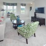 living room in townhome in millsboro