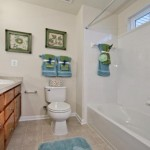 plantation lakes bathroom in new townhome